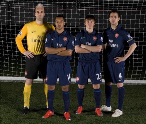 Arsenal 2009/2010 away kit